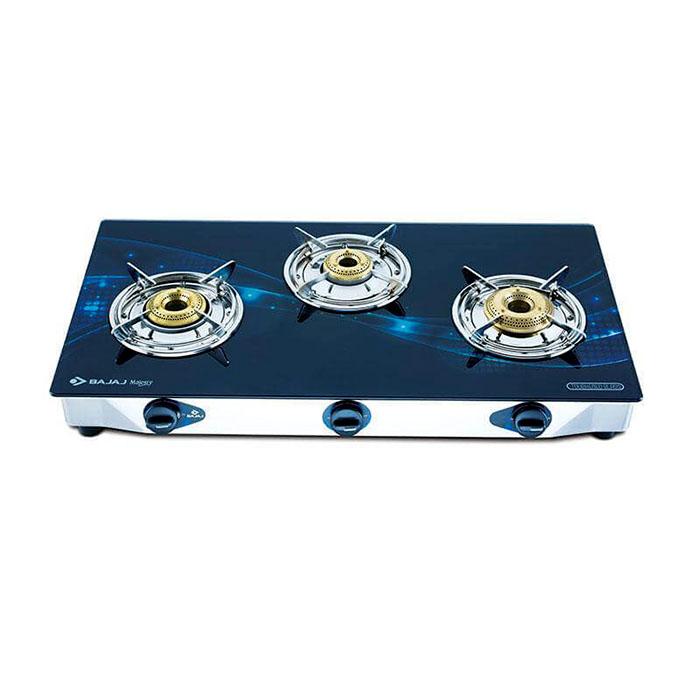 Bajaj Glass Top Stove Majesty Jewel Wave -3 Burner