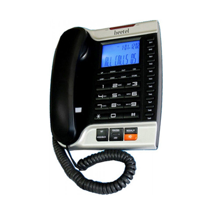 Beetel M70 Corded Phone(black/silver)