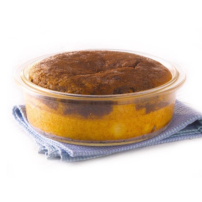 Borosil Round Cake Dish Easy Grip 1.4L