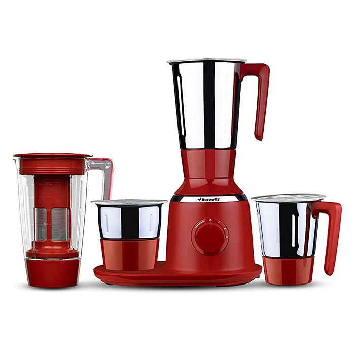 Butterfly Mixer Grinder Spectra 4 Jar Red