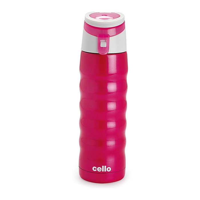 Cello Athlete Stainless Steel Bottle 480ml Pink