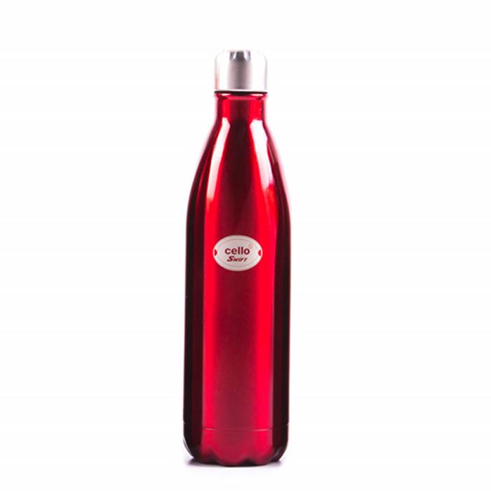 Cello Bottle Swift Stainless Steel Red 750ML