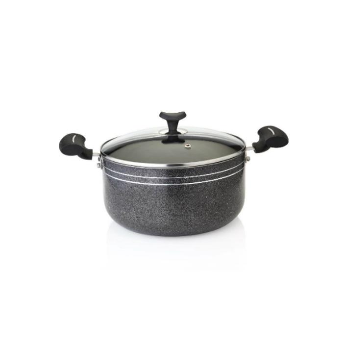 Greenchef Non-stick Biriyani Pot 4.2L With Glass Lid-4mm Thick