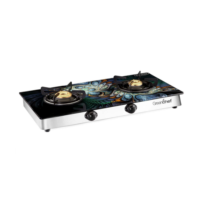 Greenchef Glasstop Peacock 2 Burner