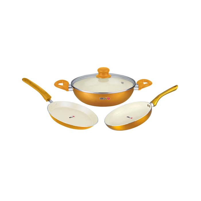 Ibell Non-stick Ceramic 3 Piece Set-ftk 2426C