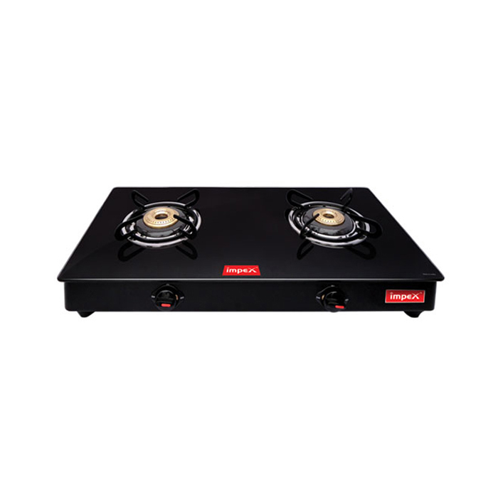 Impex Glass Cooktop Gas Stove Igs 1212M 2 Burner