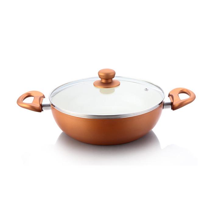 Impex Ceramic Kadai Pan Pearl 2475 24cm
