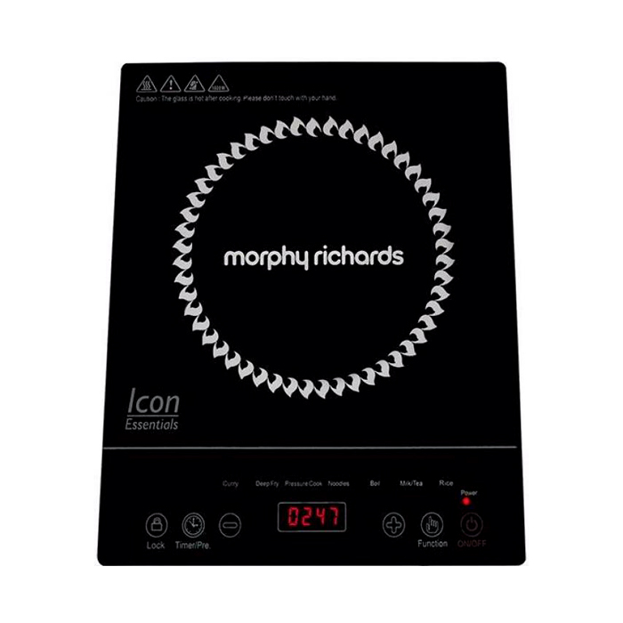 Morphy Richards Icon Essential 1600 Watts Induction Cooktop  (Black, Touch Panel)