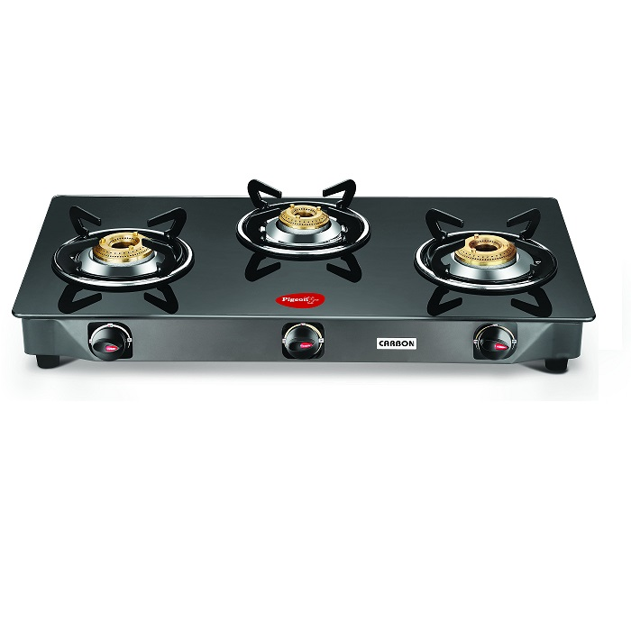 Pigeon Gas Cooktop Gt Carbon 3 Burner