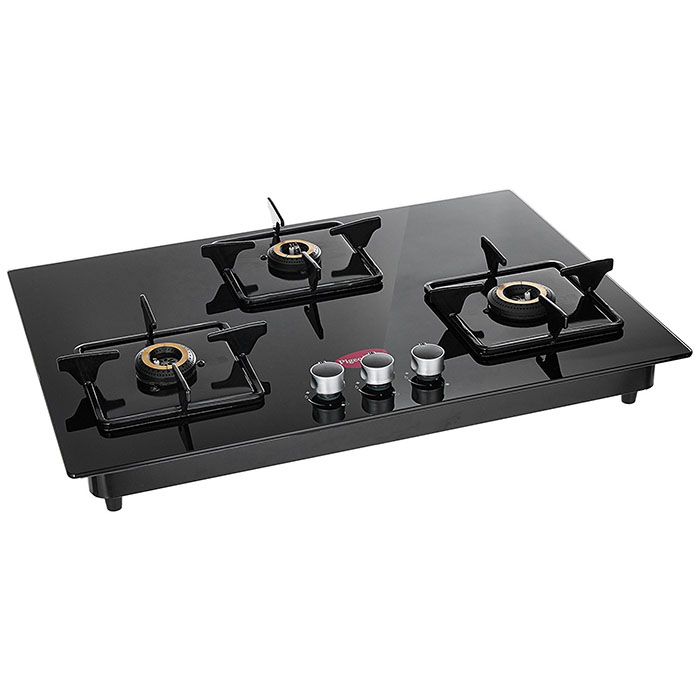 Pigeon Hobtop Super Efficient 3 Burner, Black