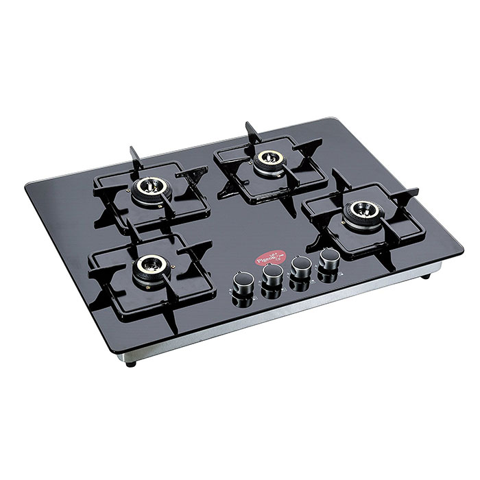 Pigeon Hobtop Super Efficient 4 Burner, Black