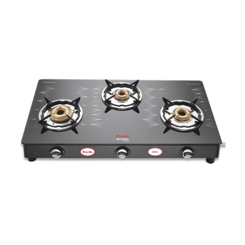 Preethi Glass Top Gas Stove Electra-3B