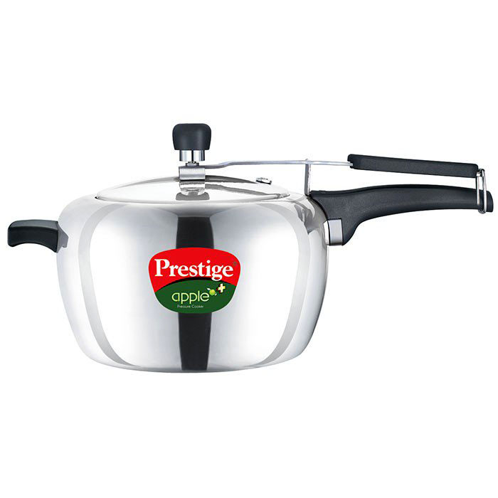 Prestige Apple Plus Aluminium Polished Pressure Cooker 5 Litre