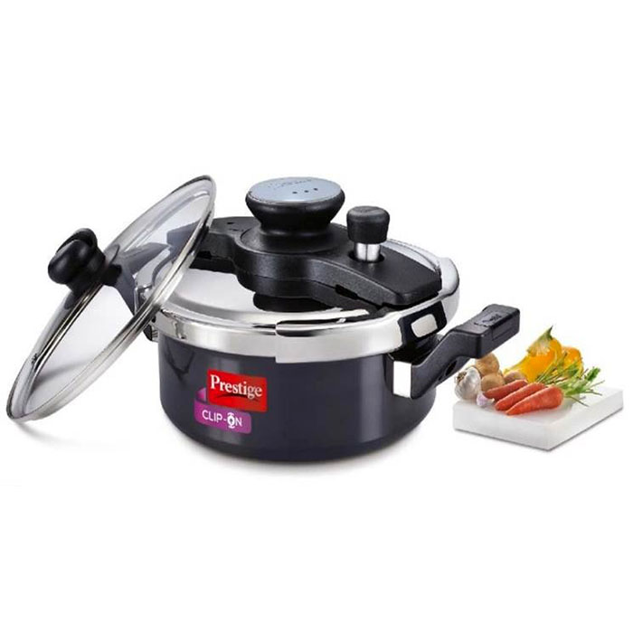 Prestige  Clip-on Hard Anodised Pressure Cooker 3 Litre