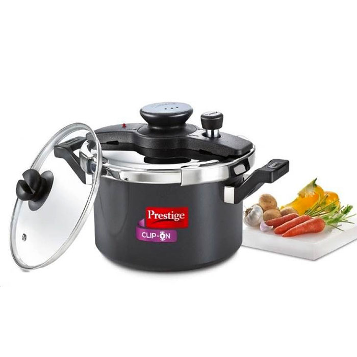 Prestige  Clip-on Hard Anodised Pressure Cooker 5 Litre