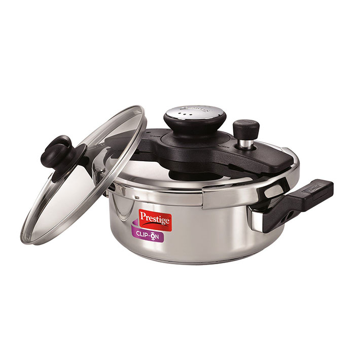 Prestige  Clip-on Stainless Steel Pressure Cooker 3 Litre