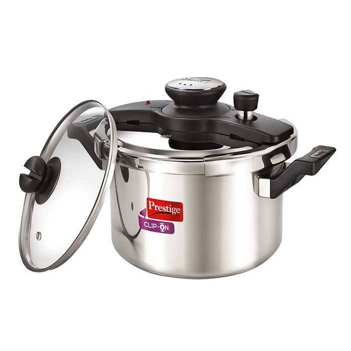 Prestige  Clip-on Stainless Steel Pressure Cooker 5 Litre