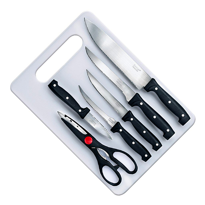 Prestige Kinfe Board 7 Pc set(Knife-5,Scissor-1,Board-1)