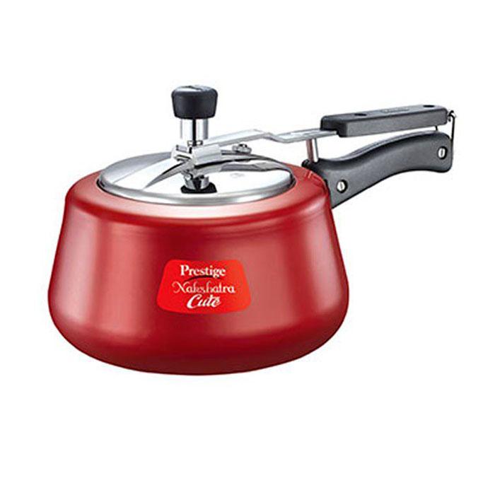 Prestige Metalic Red Pressure Cooker Nakshatra Cute 3 Litre