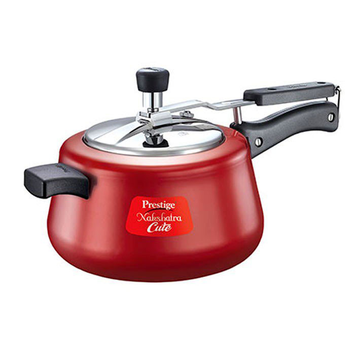 Prestige Metalic Red Pressure Cooker Nakshatra Cute 5 Litre