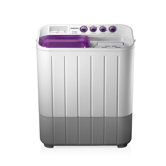 Samsung Washing Machine WT655QPNDRP Semi Automatic With Easy To Move, 6.5 Kg