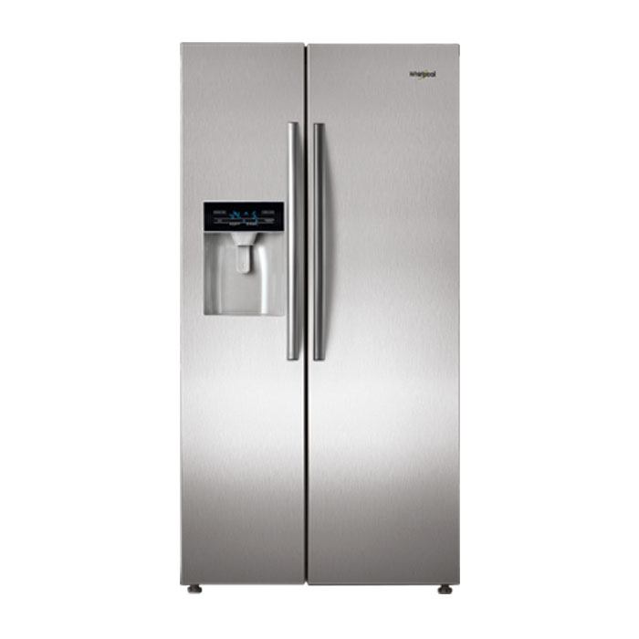 Whirlpool Refrigerator Side By Side Sbs 600 Steel (568L)