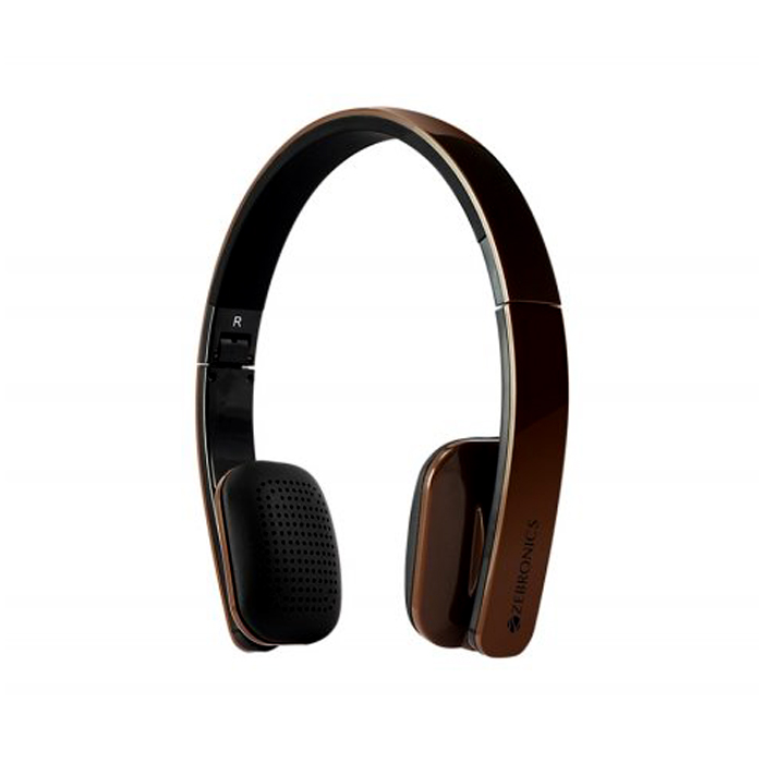 Zebronics Head Phone Happy Head Bluetooth-Brown