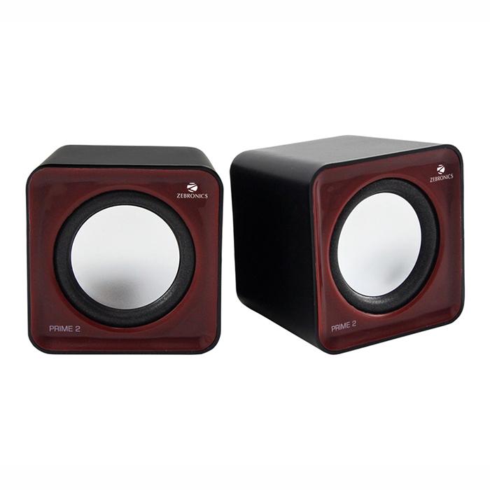 Zebronics Multi Media Speaker 2.0 Prime 2-Dark Red